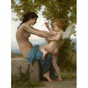 """Puzzle """"A Young Girl and Eros, Bouguereau"""" (2000) - 81017"""