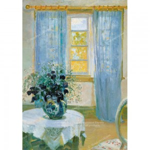 """Puzzle """"Interior with Clematis"""" (1000) - 40071"""