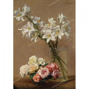 """Puzzle """"Roses and Lilies"""" (1000) - 40202"""