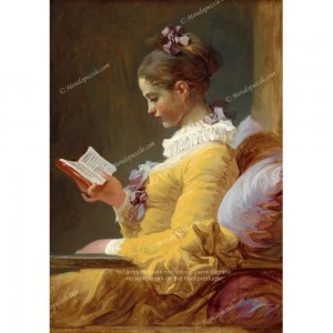 """Puzzle """"Young Girl Reading"""" (1000) - 40671"""