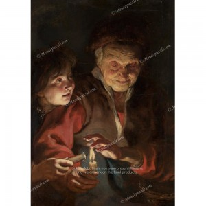 """Puzzle """"Old woman with candles"""" (1000) - 41851"""