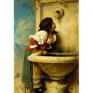 """Puzzle """"Roman Girl at a Fountain"""" (1000) - 41867"""
