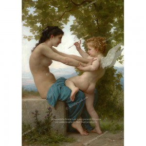 """Puzzle """"A Young Girl and Eros, Bouguereau"""" (1000) - 61172"""